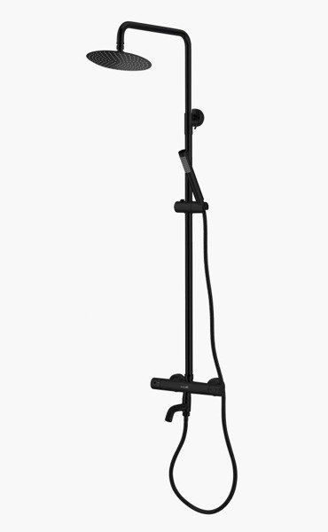 Catido Simple PL6 Thermostatic Round Shower Set Optimum Black Matte