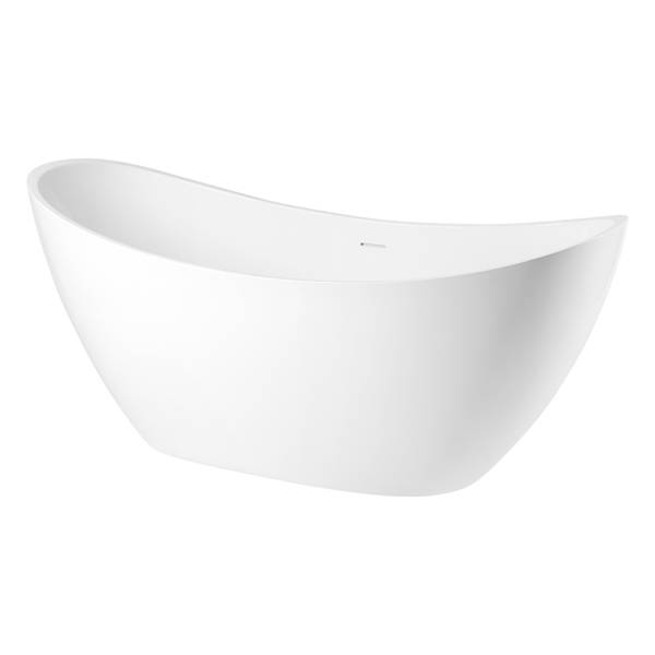 CATIDO EDGES Optitec® BASF Freestanding Bathtub 170x77 cm White