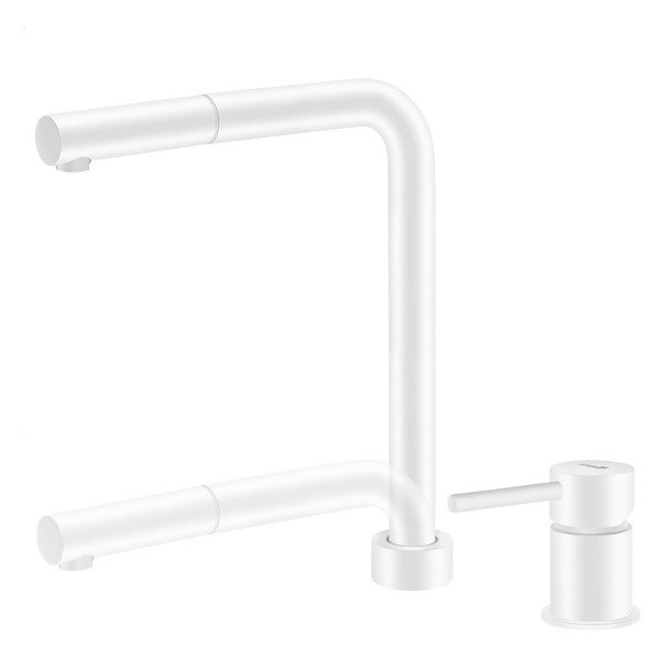 CATIDO Minimal SL30 Kitchen Pull Out Mixer Tap White Matte