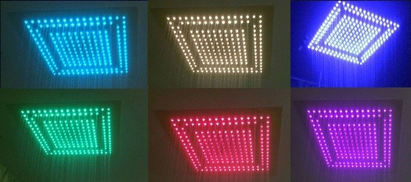 CATIDO NG40 LED Ceiling Rain Shower with Chromotherapy function; treatment with 208 LED colours.