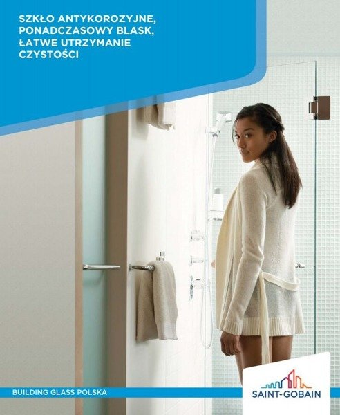 CATIDO Optimum Shower Walk-In Profile 1cm Stainless Steel Timeless Saint Gobain White Matte