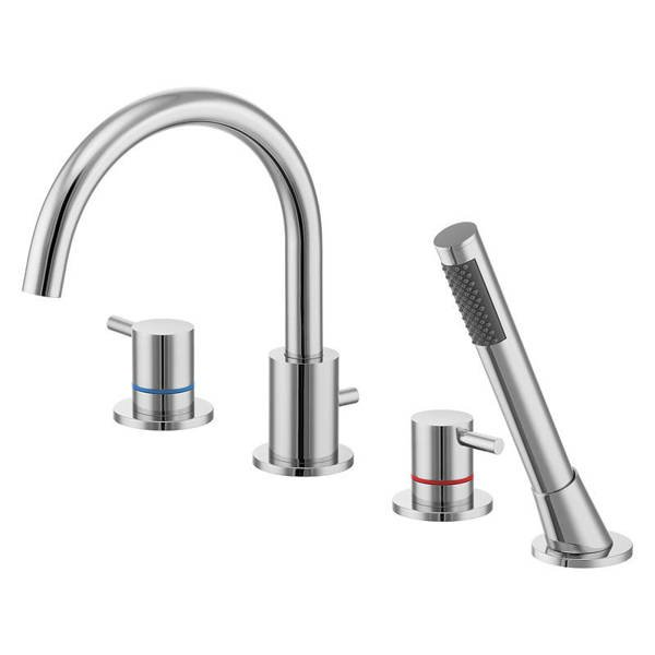 CATIDO SIMPLE PL7 4-Hole Bath Mixer Tap Chrome