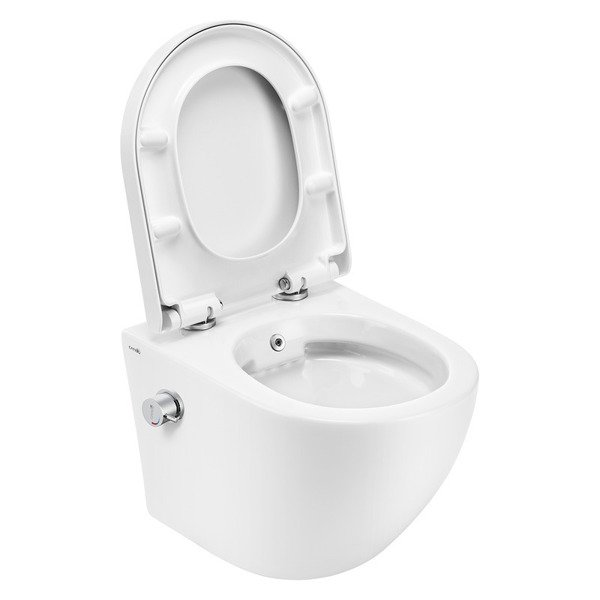 CATIDO SIMPLE Rimless Hanging Toilet Bowl with bidet function 49 White
