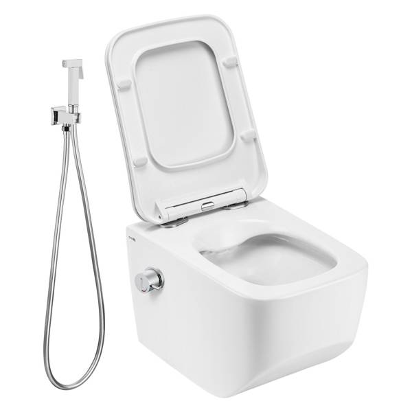CATIDO VENICE 5-0 Rimless Hanging Toilet Bowl with bidet function and bidet mixer Bidetta