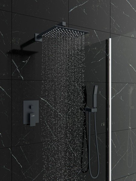 CATIDO VIDI CBOX PL1 Concealed Squere Shower Mixer Set in Anthracite Matte