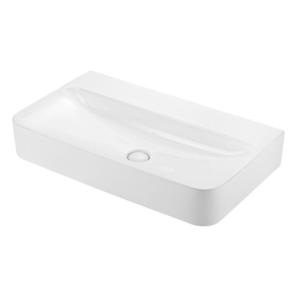 CATIDO VIDI Countertop Square Washbasin 800B Without tap hole White
