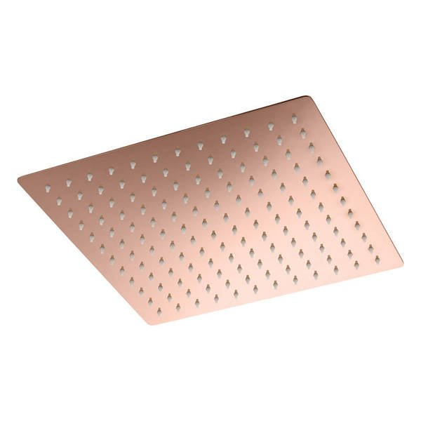 CATIDO VIDI NG Ultra Slim Rain Shower Head with Anti Calc PVD Shiny Rose Gold
