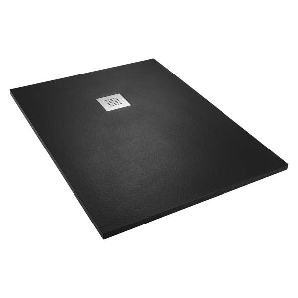 CATIDO VIDI Stone Structure Shower Tray Low Various sizes Black
