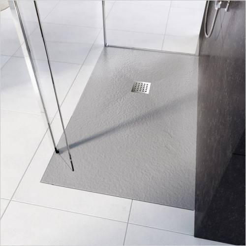CATIDO VIDI Stone Structure Shower Tray Low Various sizes Grey Matte