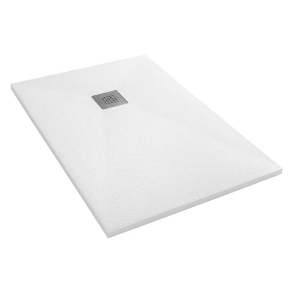 CATIDO VIDI Stone Structure Shower Tray Low Various sizes White