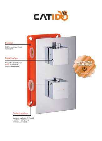 CATIDO VIDI TR2 CBOX Concealed Thermostatic Shower Mixer Chrome