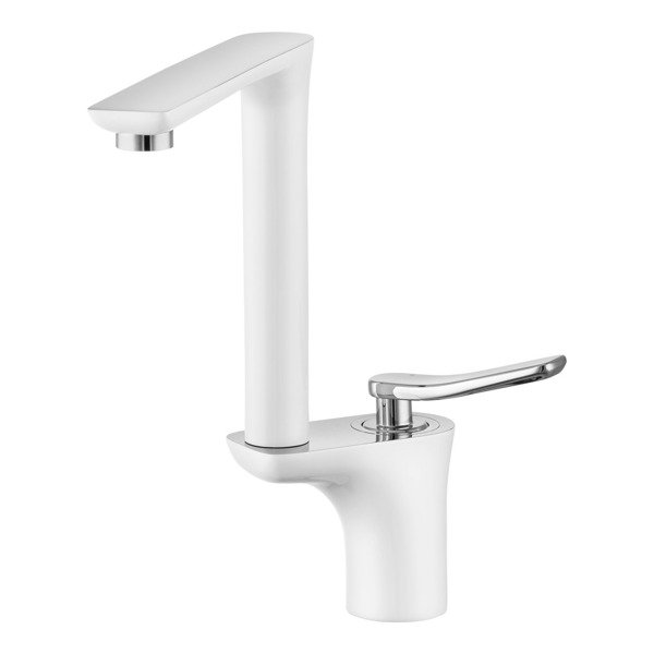CATIDO Venice LW8 Folding High Rise Mixer Tap OPTIMUM Chrome&White