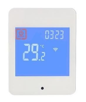 CATIDO WE1 Two Sensor Wall Thermostat for Heating Touchscreen White