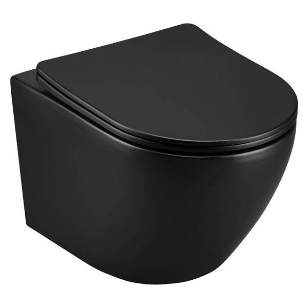 CATIDO Wall Hung Rimless Toilet Bowl SIMPLE 49 Shiny Black
