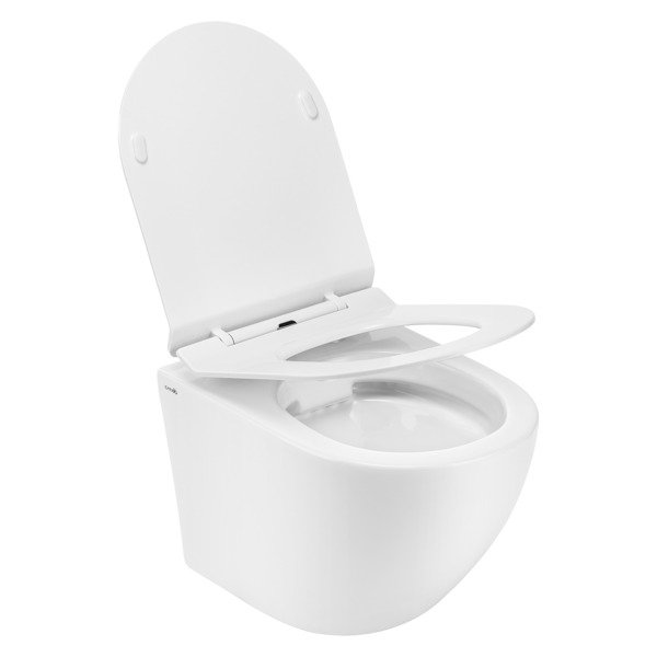 CATIDO Wall Hung Rimless Toilet Bowl Simple 49 Slim White