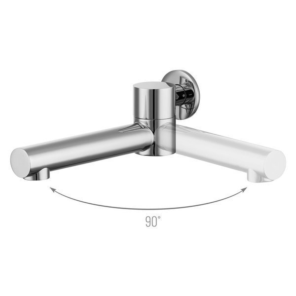 Catido SIMPLE TR13 Cbox Concealed Thermostatic round shower set Optimum White Matte