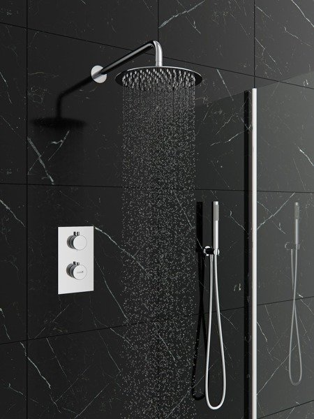 Catido SIMPLE TR3 Cbox Concealed Thermostatic round shower set Optimum Chrome