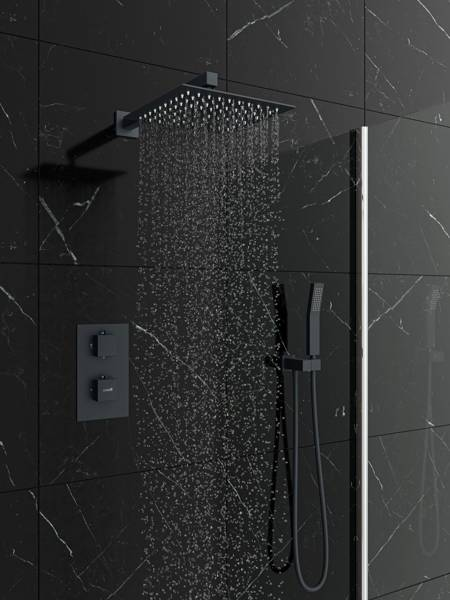 Catido Vidi TR2 Cbox Concealed Thermostatic squere shower set Anthracite Matte