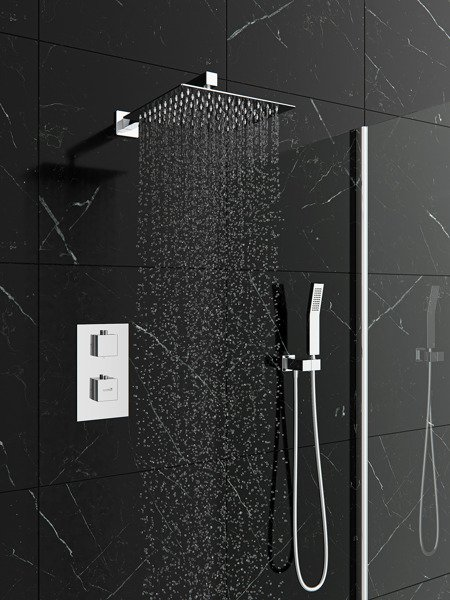 Catido Vidi TR2 Cbox Concealed Thermostatic squere shower set Chrome