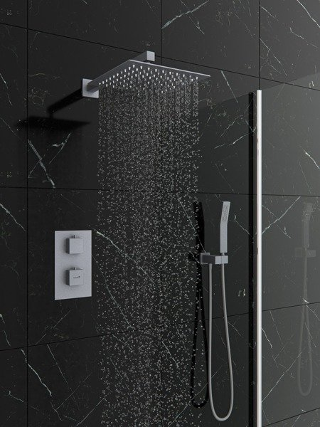 Catido Vidi TR2 Cbox Concealed Thermostatic squere shower set OPTIMUM Grey Matte