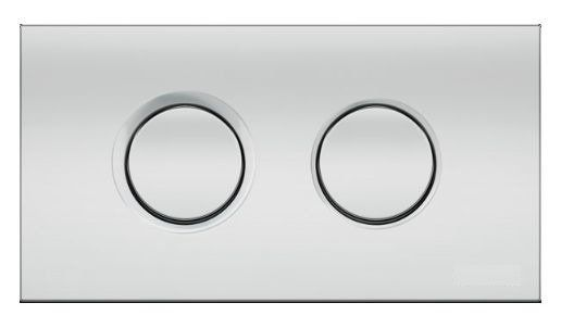 Control button for concealed systems Catido Thira Duo Chrome