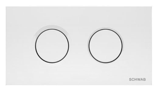 Control button for concealed systems Catido Thira Duo White